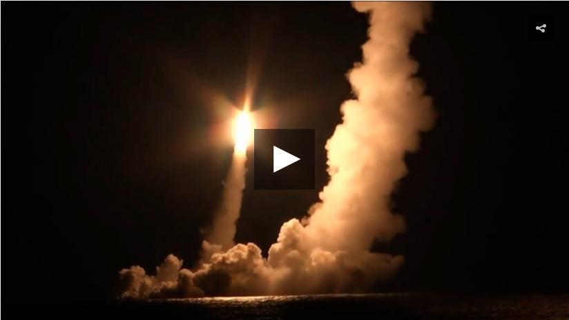 Подлодка «Владимир Мономах» выполнила пуск четырёх ракет «Булава»
