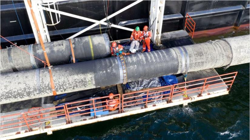 Судно-трубоукладчик «Фортуна» прибыло в порт Росток