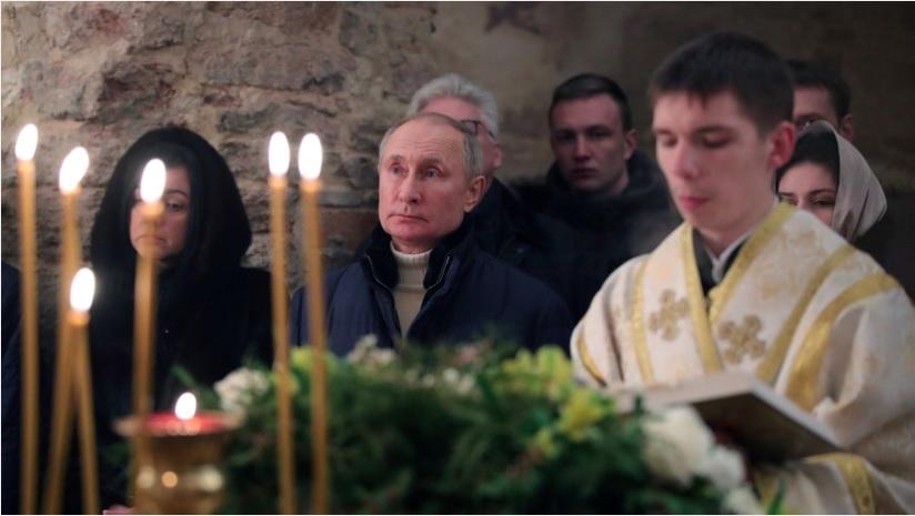 Путин поздравил россиян с Рождеством